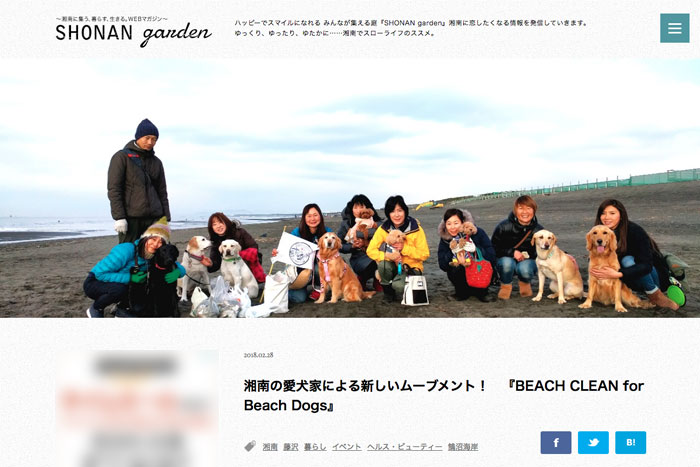 BEACH CLEAN for Beach Dogs